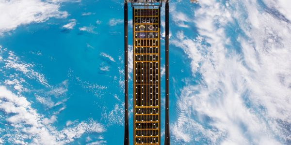 Caption: ROSA technology was demonstrated on the ISS in 2017. Credit: NASA
